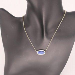 Kendra Scott Elisa Blue Lapis Silver Necklace